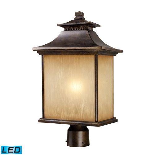 Elk Lighting Elk Lighting San Gabriel Hazlenut Bronze LED Post Light 42184/1-LED