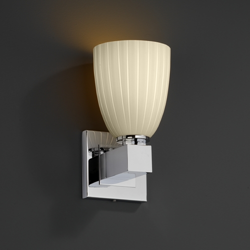 Justice Design Group Justice Design Group Fusion Collection Sconce FSN-8705-18-RBON-CROM
