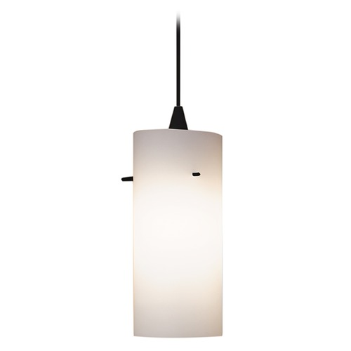 WAC Lighting Wac Lighting Contemporary Collection Black Mini-Pendant with Cylindrical Shade PLD-F4-454WT/BK