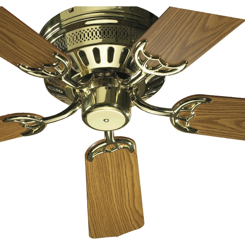 Quorum Lighting Quorum Lighting Hugger Polished Brass Ceiling Fan Without Light 11425-2
