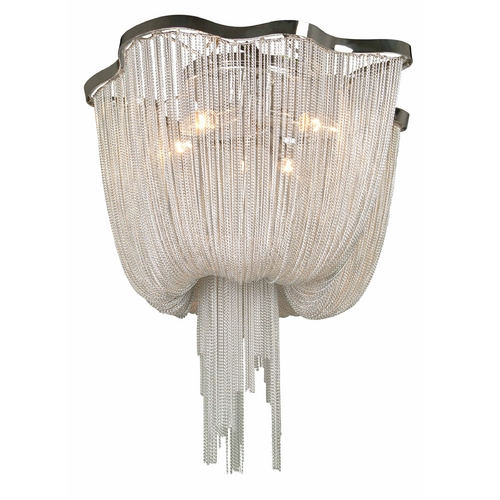 Avenue Lighting Avenue Lighting Mulholland Drive Polished Nickel Flushmount Light HF1403-CH