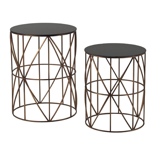 Sterling Lighting Sterling Lighting Bright Gold / Black Acrylic Top Coffee & End Table 137-023/S2