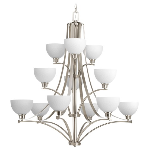 Progress Lighting Progress Lighting Legend Brushed Nickel Chandelier P4653-09