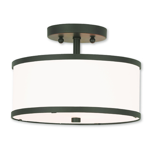 Livex Lighting Livex Lighting Park Ridge Bronze Semi-Flushmount Light 62626-07