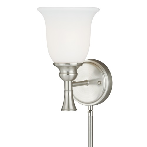 Vaxcel Lighting Bell Satin Nickel Pin-Up Lamp by Vaxcel Lighting W0177
