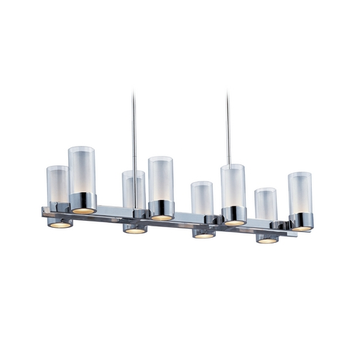 Maxim Lighting Maxim Lighting Silo Chrome Island Light with Cylindrical Shade 23079CLFTPC