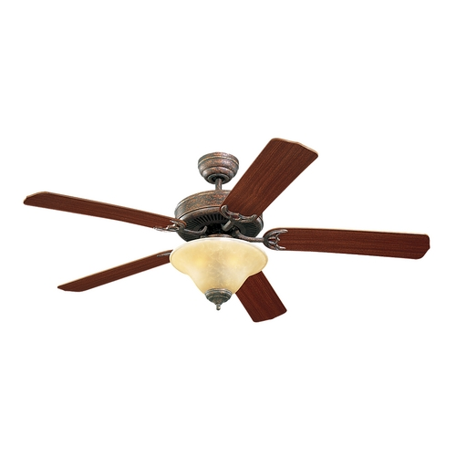 Monte Carlo Fans Ceiling Fan with Light in Bronze / Tea Stain Mission Finish 5HS52TBS-L