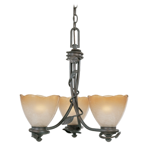 Designers Fountain Lighting Chandelier with Beige / Cream Glass in Old Bronze Finish 95683-OB