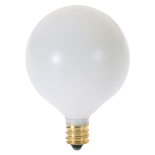 Satco Lighting 60-Watt Globe Light Bulb with Candelabra Base A3932