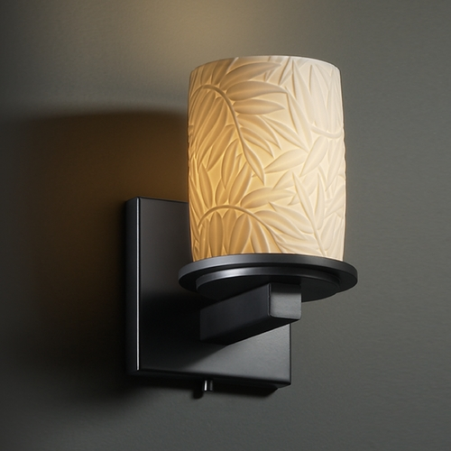 Justice Design Group Justice Design Group Limoges Collection Sconce POR-8771-10-BMBO-MBLK