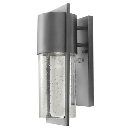 Hinkley Seeded Glass LED Outdoor Wall Light Grey Hinkley 1320HE-LED