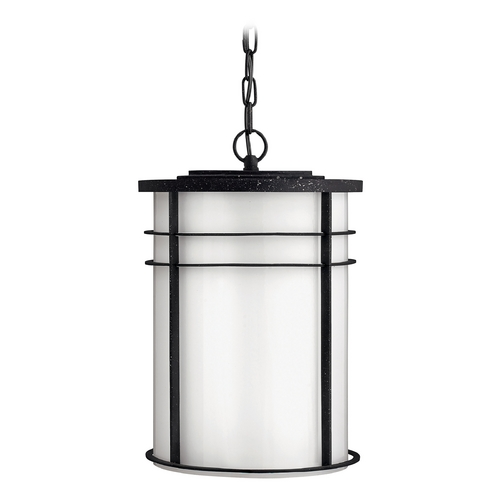 Hinkley Lighting Outdoor Hanging Light with White Glass in Vintage Black Finish 1122VK-GU24