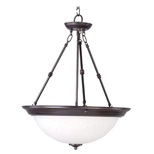 Maxim Lighting Maxim Lighting Essentials Oil Rubbed Bronze Pendant Light with Bowl / Dome Shade 5846ICOI