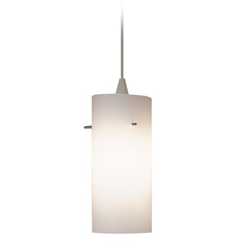 WAC Lighting Wac Lighting Contemporary Collection Brushed Nickel Mini-Pendant with Cylindrical S PLD-F4-454WT/BN