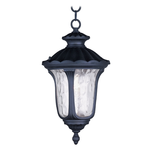 Livex Lighting Livex Lighting Oxford Black Outdoor Hanging Light 7854-04
