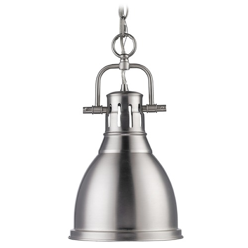 Golden Lighting Golden Lighting Duncan Pewter Mini-Pendant Light 3602-S PW-PW