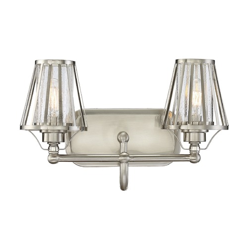 Savoy House Savoy House Lighting Caroll Satin Nickel Bathroom Light 8-4078-2-SN