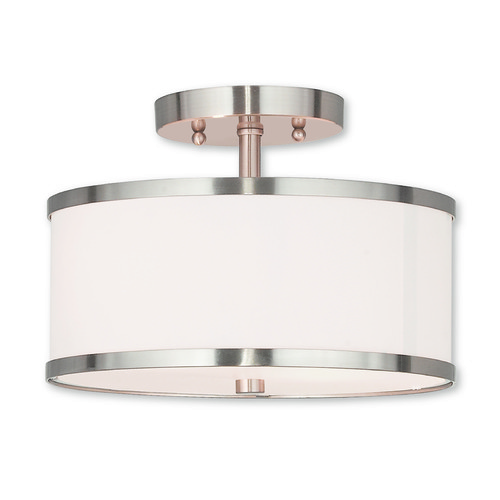 Livex Lighting Livex Lighting Park Ridge Brushed Nickel Semi-Flushmount Light 62626-91