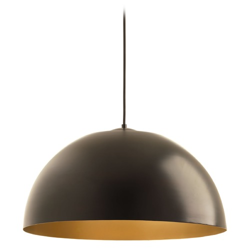 Progress Lighting Farmhouse LED Mini-Pendant Light Bronze Dome by Progress Lighting P5340-2030K9