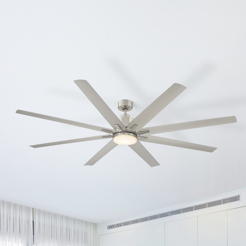 Savoy House Savoy House Lighting Bluffton Satin Nickel LED Ceiling Fan with Light 72-5045-8SV-SN
