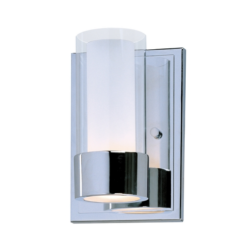 Maxim Lighting Modern Sconce Wall Light with Clear Glass in Polished Chrome Finish 23071CLFTPC