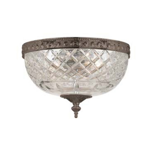 Crystorama Lighting Flushmount Light with Clear Glass in English Bronze Finish 117-8-EB