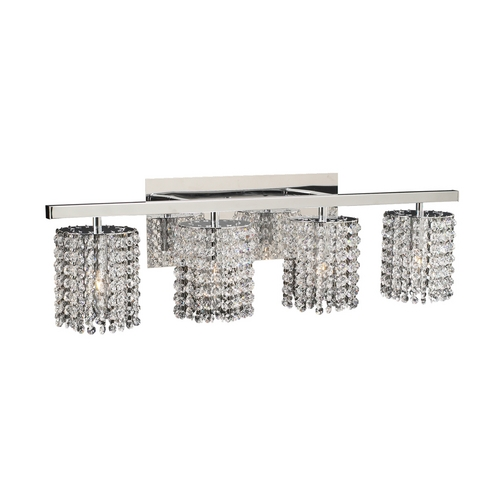 PLC Lighting Modern Bathroom Light with Clear Glass in Polished Chrome Finish 72196 PC