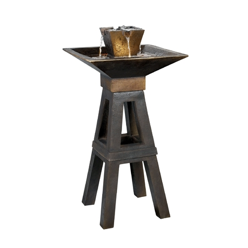 Kenroy Home Lighting Outdoor Fountain in Copper Bronze Finish 50613CPBZ