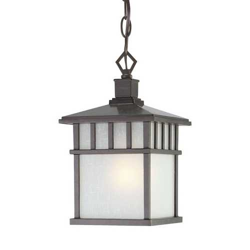 Dolan Designs Lighting 12-Inch Hanging Outdoor Pendant Light in Olde World Iron 9113-34