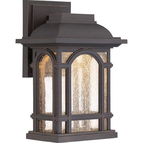 Quoizel Lighting Quoizel Cathedral LED Palladian Bronze Outdoor Wall Light CATL8407PN