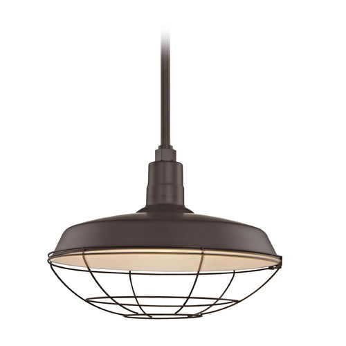 Recesso Lighting by Dolan Designs Bronze Pendant Barn Light with 18