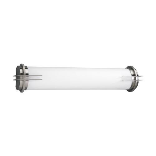Progress Lighting Linear Fluorescent Bath Brushed Nickel Bathroom Light - Vertical or Horizontal Mounting P7227-09EB
