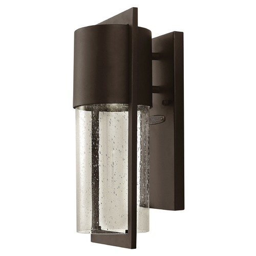 Hinkley Seeded Glass LED Outdoor Wall Light Bronze Hinkley 1320KZ-LED