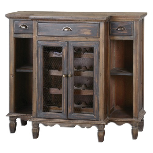 Uttermost Lighting Uttermost Suzette Wood Wine Cabinet 24371