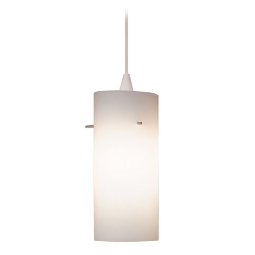 WAC Lighting WAC Lighting Contemporary Collection White Mini-Pendant with Cylindrical Shade PLD-F4-454WT/WT