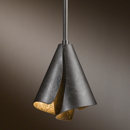 Hubbardton Forge Lighting Hubbardton Forge Lighting Mobius Dark Smoke Mini-Pendant Light 18450-31207-CTO