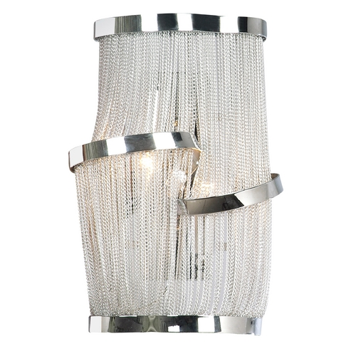 Avenue Lighting Avenue Lighting Mulholland Drive Polished Nickel Sconce HF1404-CH