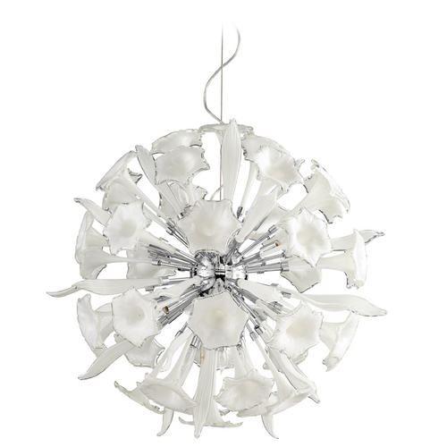 Cyan Design Cyan Design Remy White & Clear Pendant Light 5726