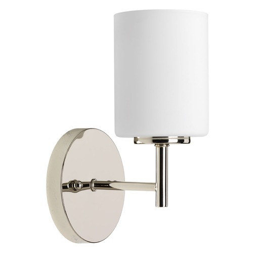 Progress Lighting Modern Sconce Polished Nickel Replay by Progress Lighting P2131-104