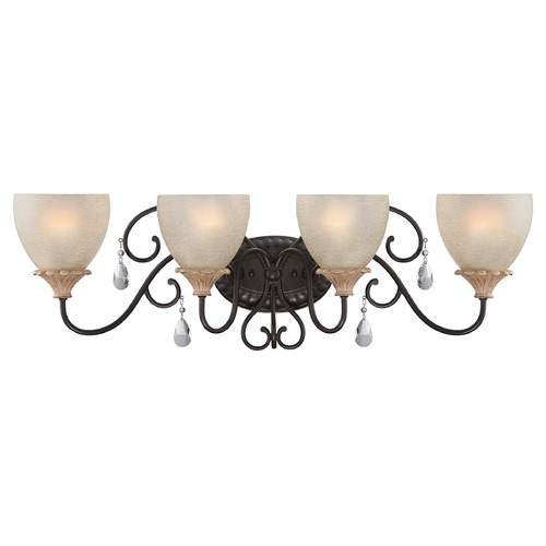Designers Fountain Lighting Designers Fountain Bella Maison Distressed Ash Bathroom Light 85304-DA