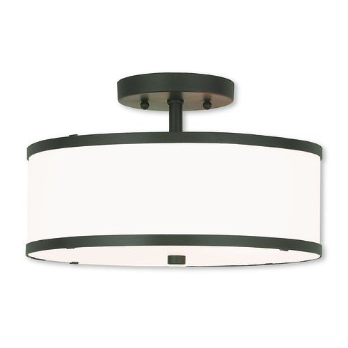Livex Lighting Livex Lighting Park Ridge Bronze Semi-Flushmount Light 62627-07