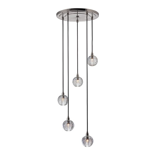 Hudson Valley Lighting Modern Multi-Light Pendant Light with Clear Glass and 5-Lights 3515-SN-S-001