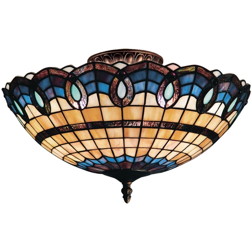 Elk Lighting Tiffany Semi-Flushmount Light in Classic Bronze Finish 936-CB