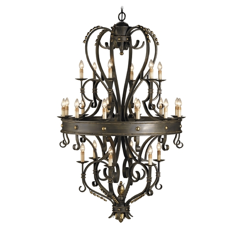Currey and Company Lighting Chandelier in Bronze Verdigris Finish 9631