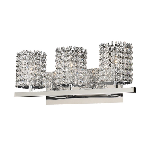 PLC Lighting Modern Bathroom Light with Clear Glass in Polished Chrome Finish 72194 PC