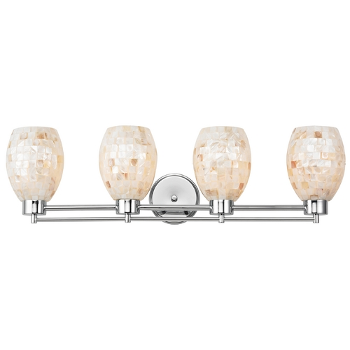 Design Classics Lighting Bathroom Light with Mosaic Glass - Four Lights 704-26 GL1034