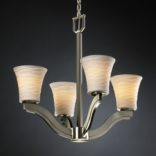 Justice Design Group Justice Design Group Limoges Collection Chandelier POR-8970-20-WAVE-NCKL