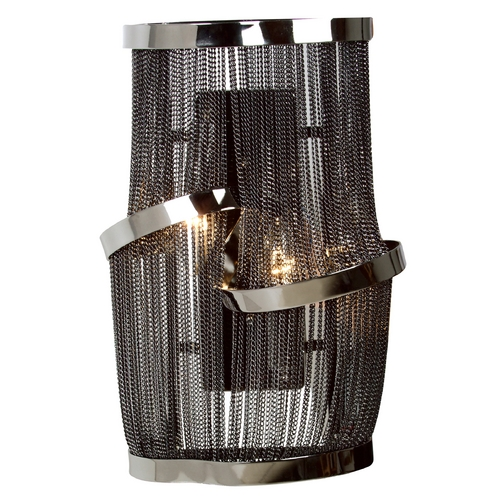 Avenue Lighting Avenue Lighting Mulholland Drive Black Polished Nickel Sconce HF1404-BLK