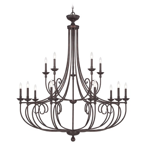 Savoy House Savoy House Lighting Langley English Bronze Chandelier 1-650-15-13