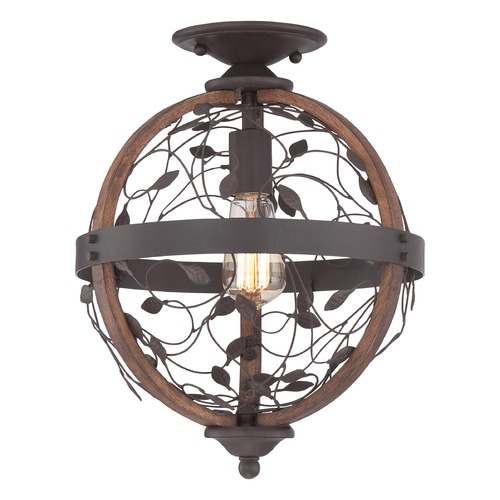 Quoizel Lighting Quoizel Chamber Darkest Bronze Semi-Flushmount Light CHB1612DK